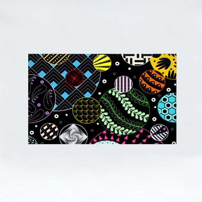 Zentangle 3A Stickers (Rectangle)