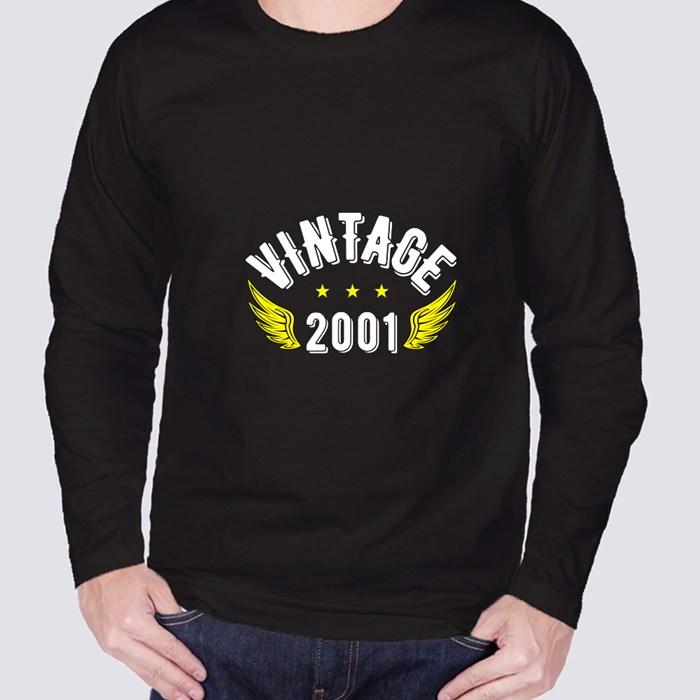 Vintage 2001 Long Sleeve T-Shirts