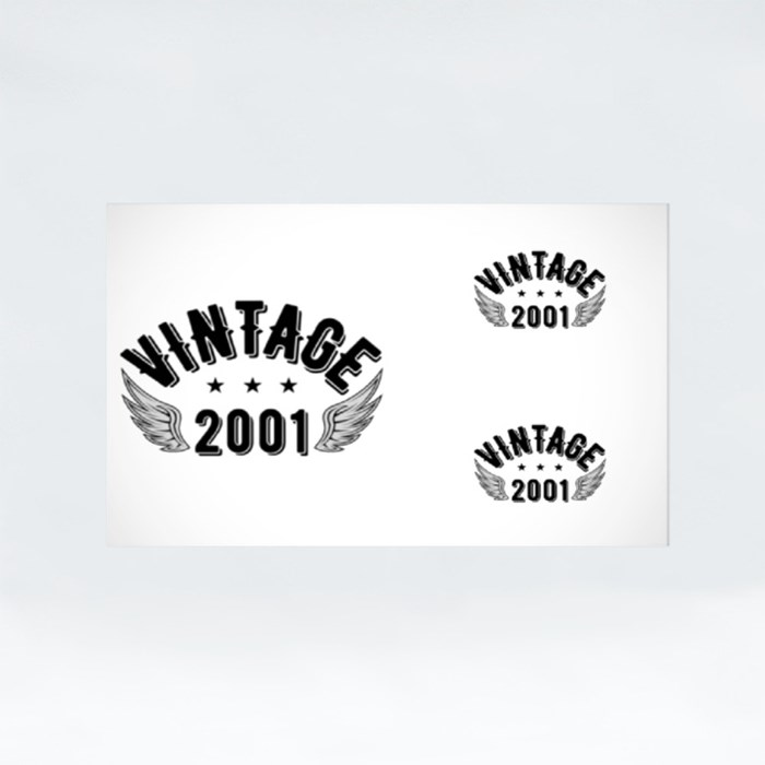 Vintage 2001 B Stickers (Rectangle)