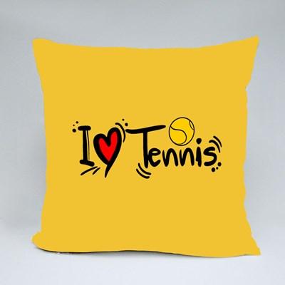 I Love Playing Tennis Throw Pillows