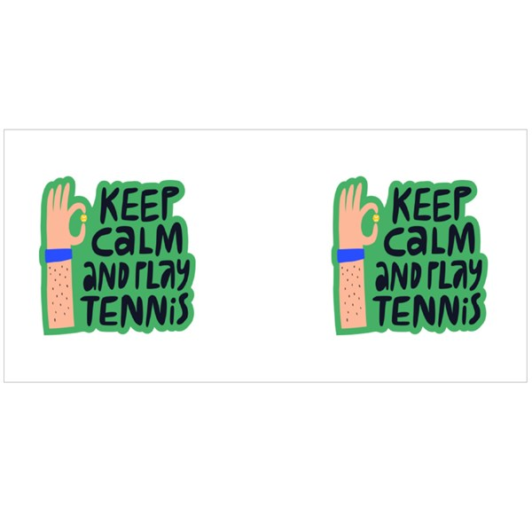 Keep Calm and Play Tennis Colour Mugs