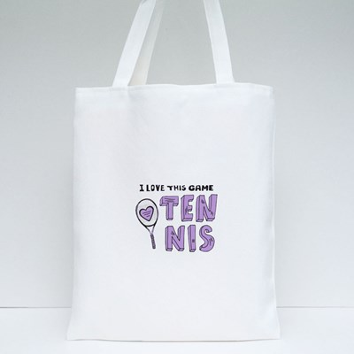 I Love This Game Tennis Tote Bags