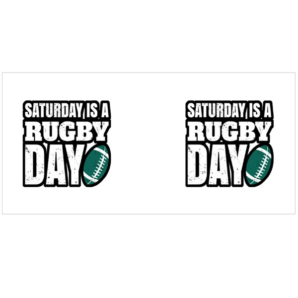 Saturday Is a Rugby Day Colour Mugs
