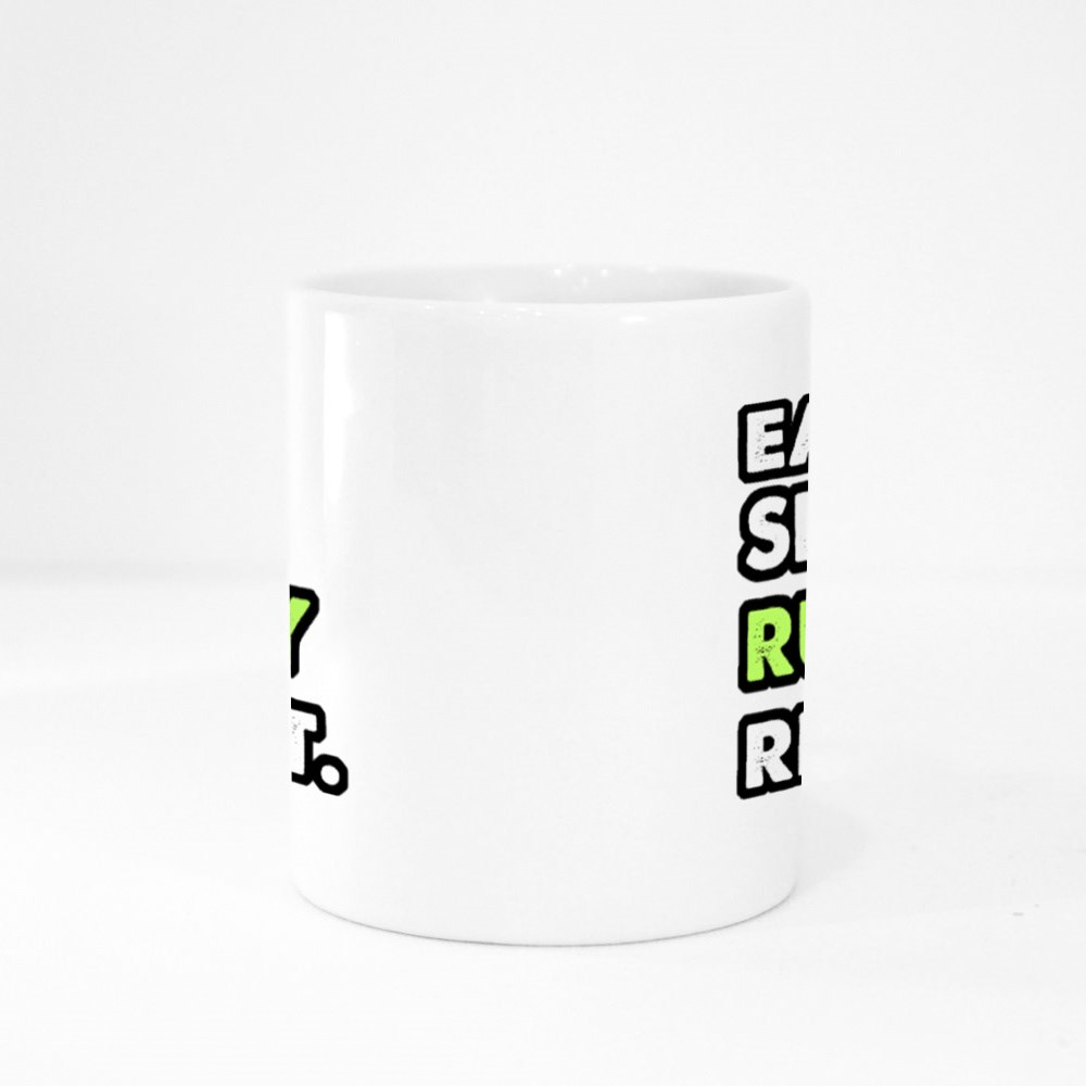 Eat Sleep Rugby Repeat Colour Mugs