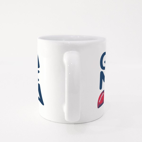 American Football Game On Colour Mugs