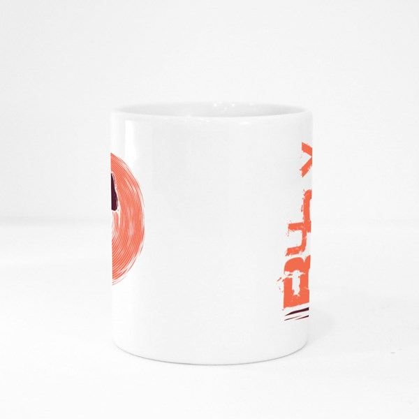 Rugby Player Dribbling Grunge Colour Mugs