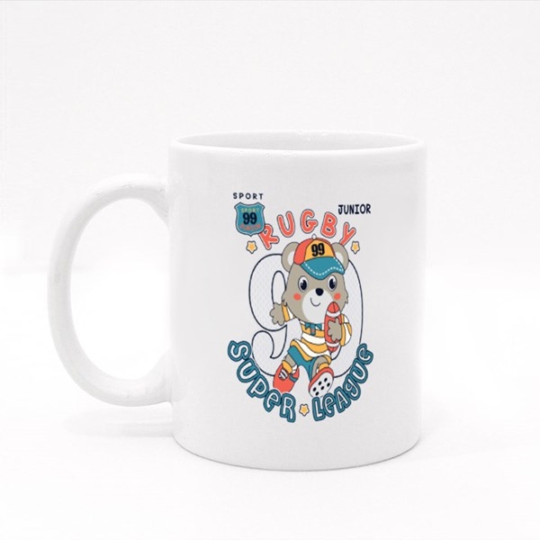 Junior Rugby Super League Colour Mugs