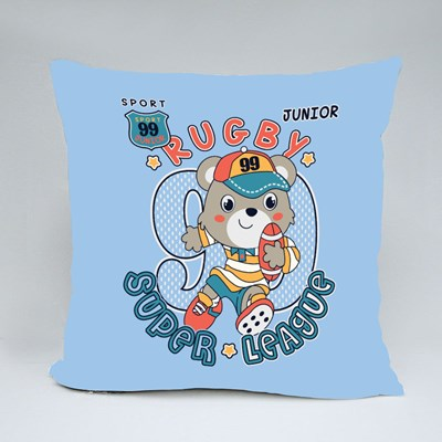 Junior Rugby Super League Throw Pillows