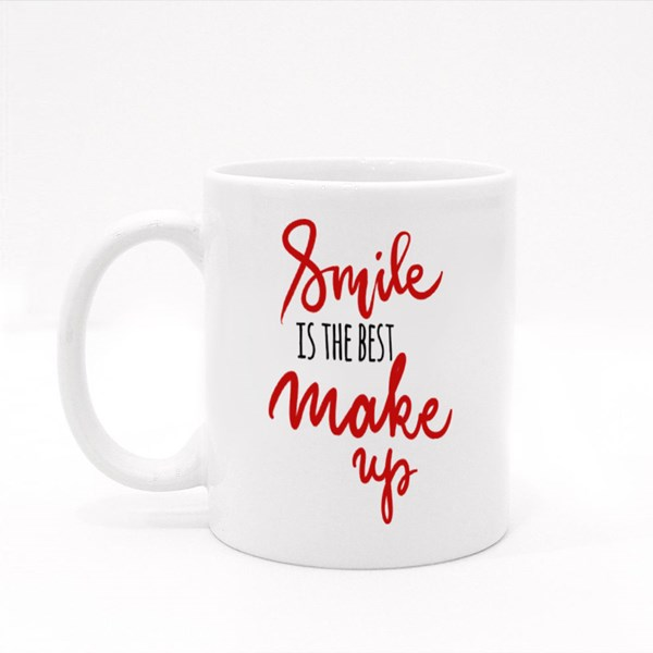 Smile Is the Best Make Up Colour Mugs