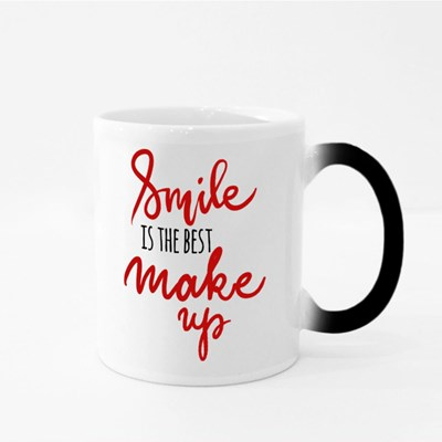 Smile Is the Best Make Up Magic Mugs