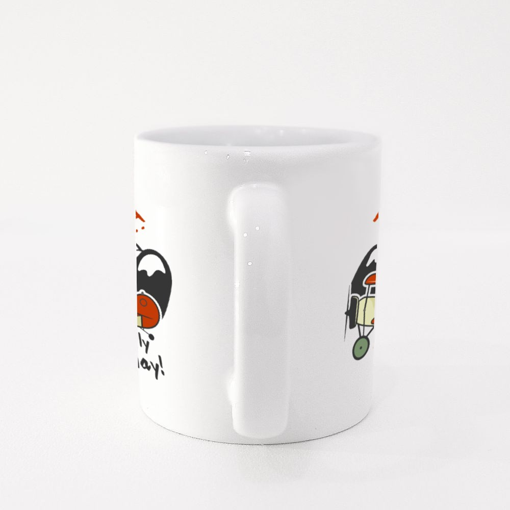 Learn to Fly and Fly Away Colour Mugs