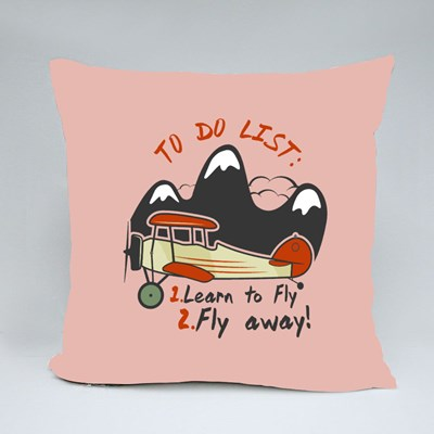Learn to Fly and Fly Away Throw Pillows