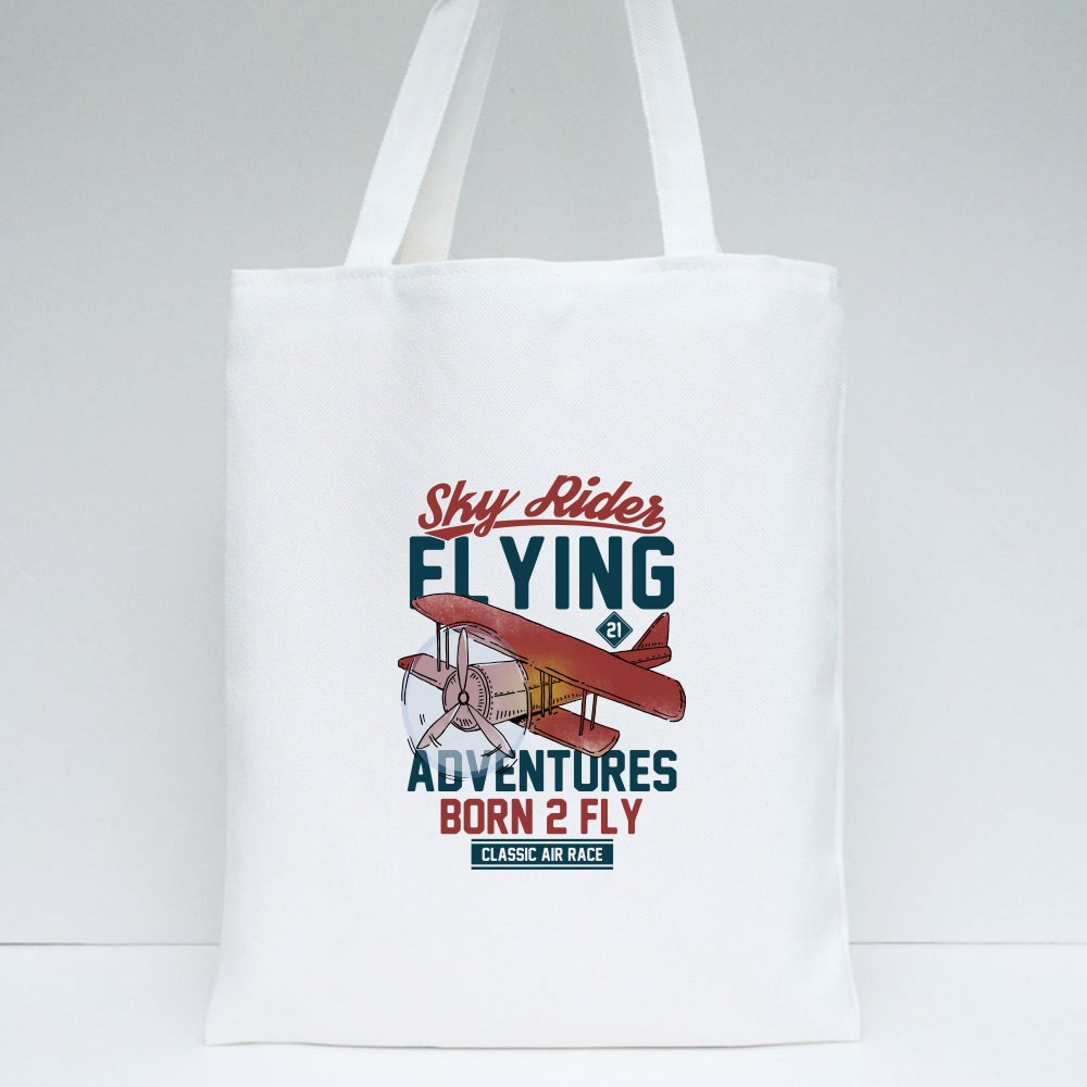 Adventures Born 2 Fly Tote Bags