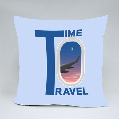 Time to Travels Throw Pillows
