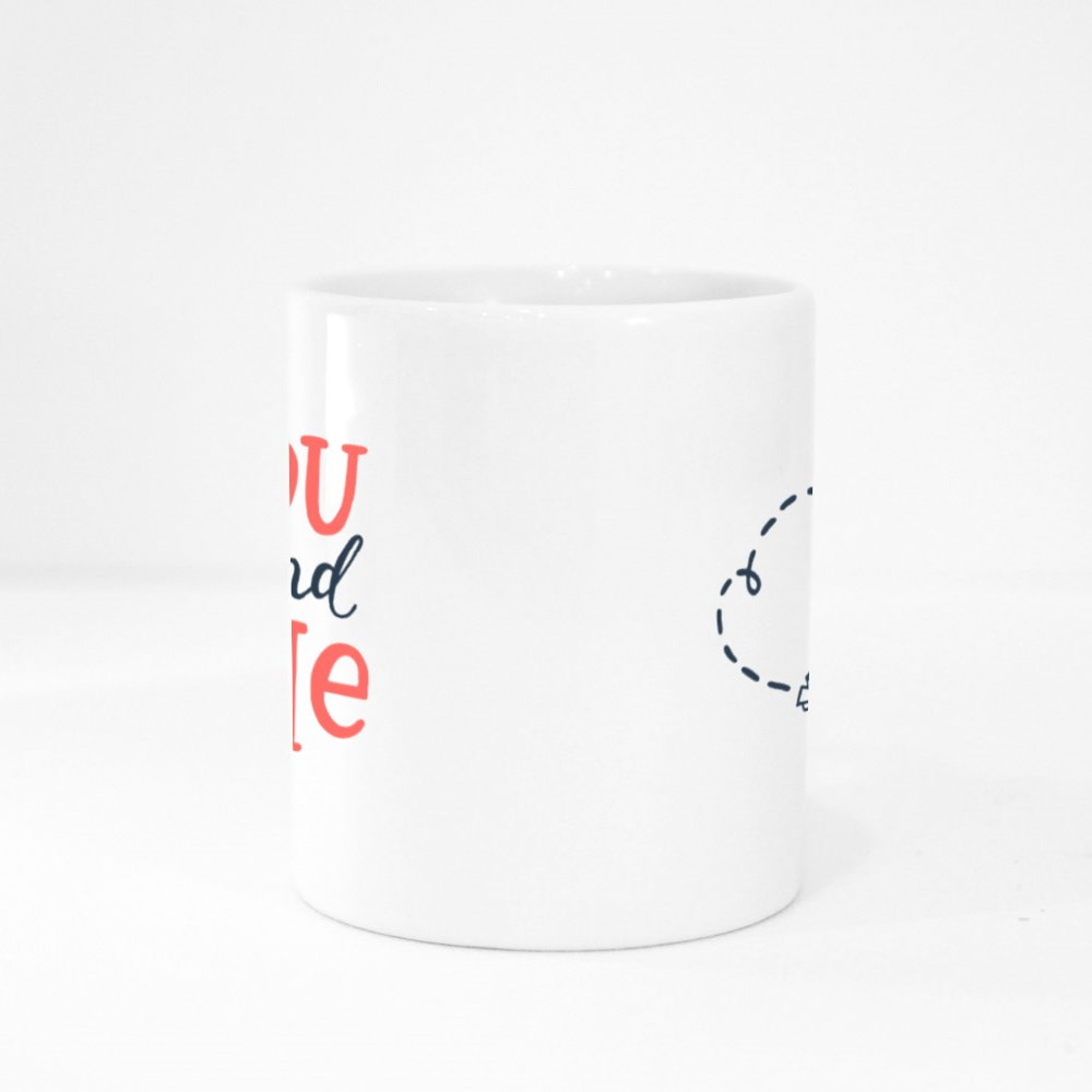 The Paper Plane of You and Me Colour Mugs