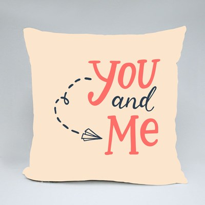 The Paper Plane of You and Me Throw Pillows