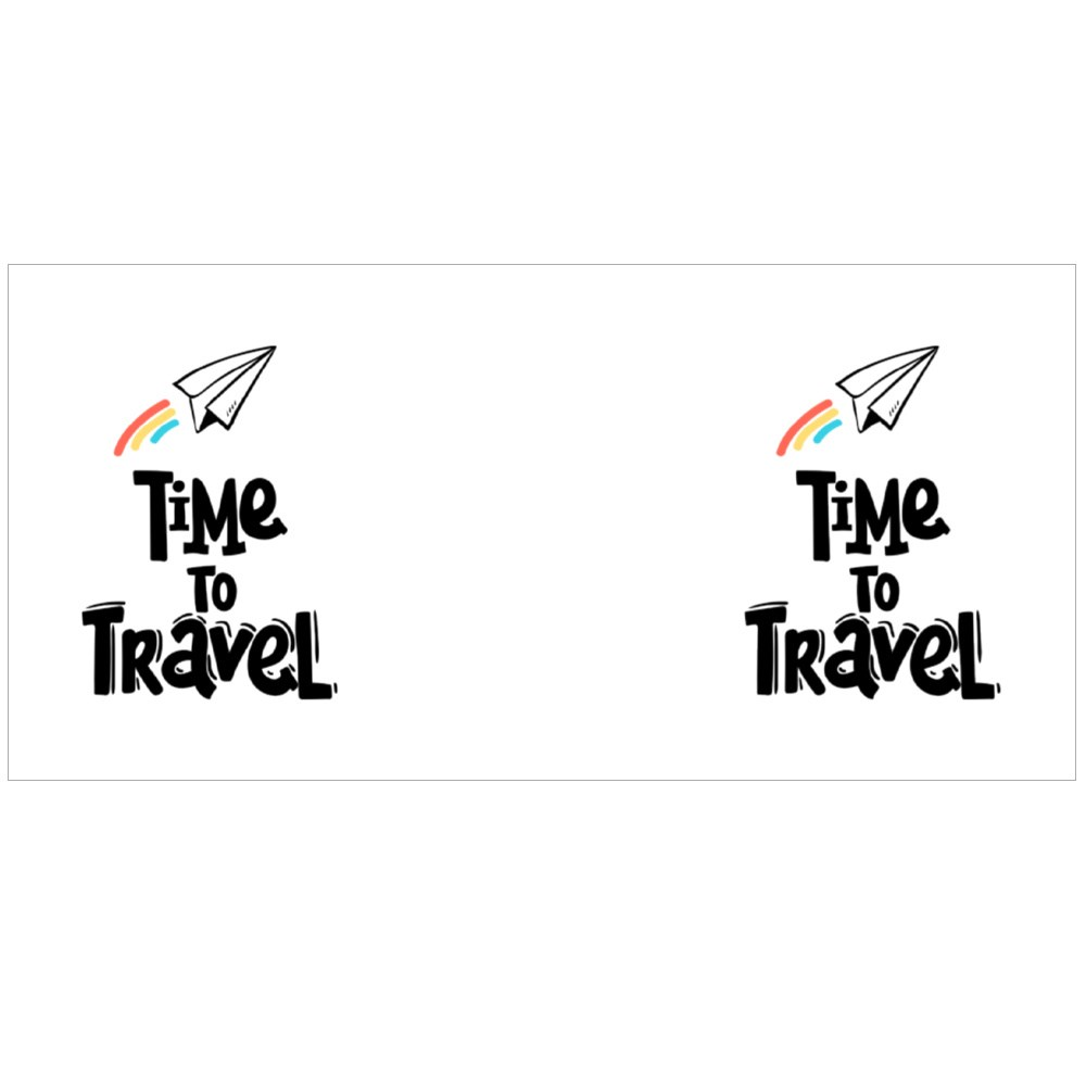 Paper Plane Time to Travel Colour Mugs