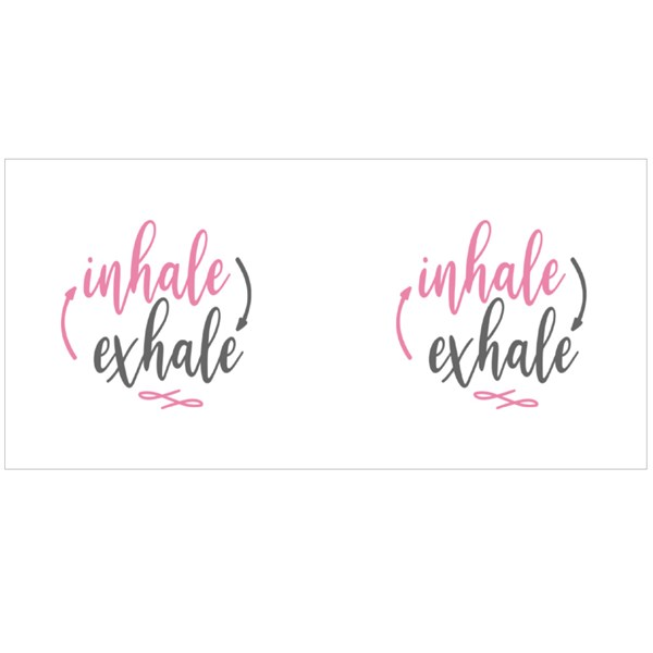Inhale and Exhale Colour Mugs