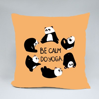Be Calm Do Yoga Throw Pillows