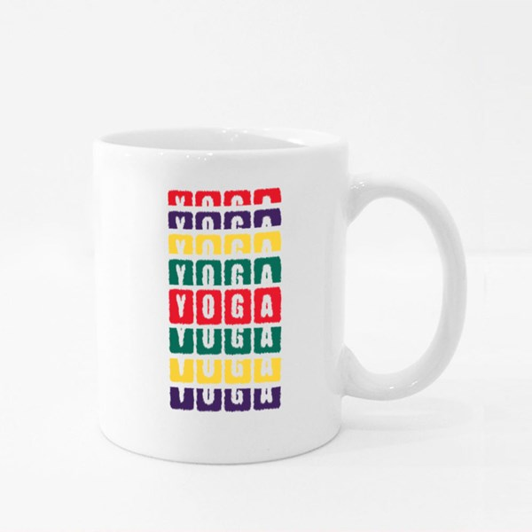 Colorful Yoga Therapy Colour Mugs