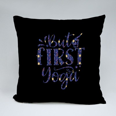 But First Yoga Psychedelic Throw Pillows