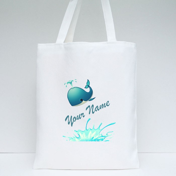 Your Name Whale Edition Tote Bags