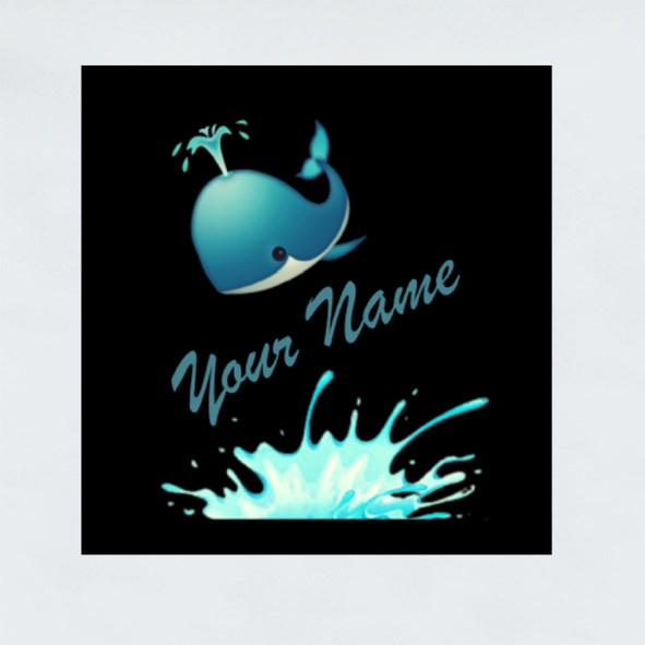 Your Name Whale Edition Stickers (Square)