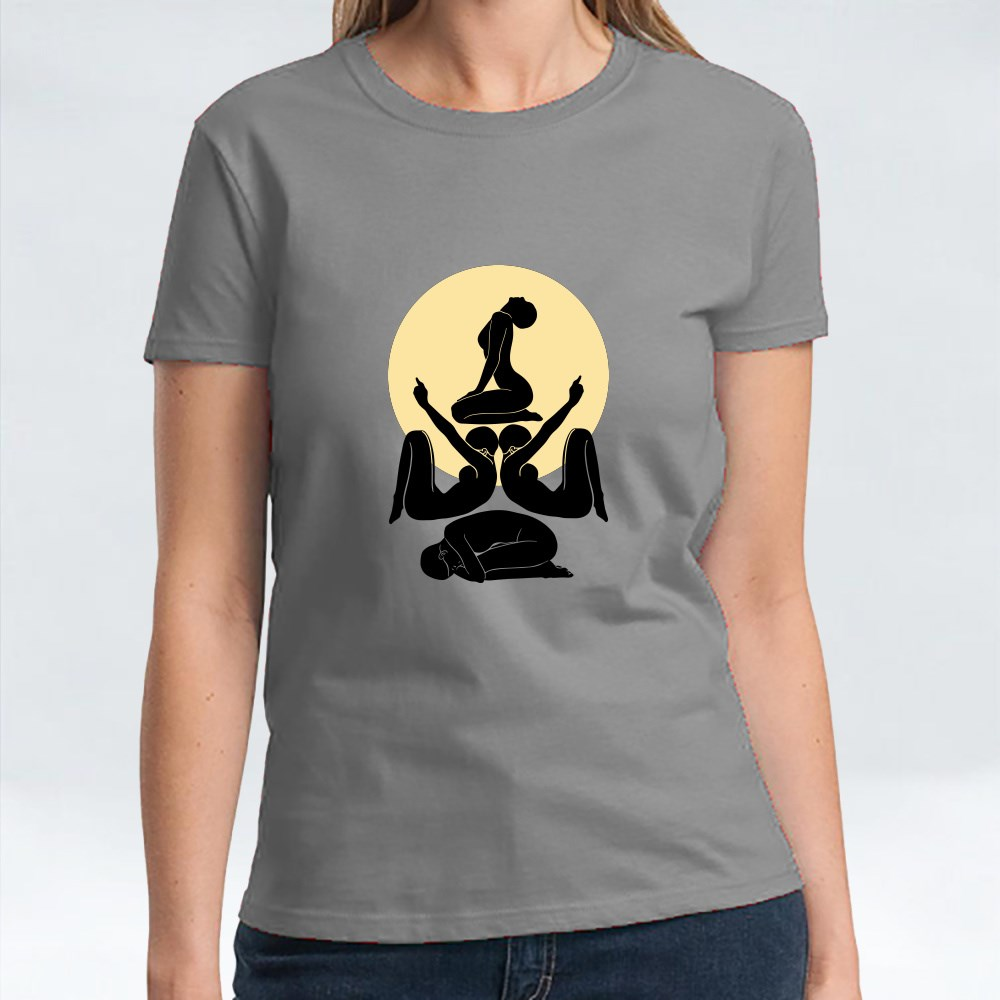 Yoga Position for Tranquility T-Shirts