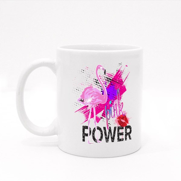 Pink Power Flamingo Colour Mugs
