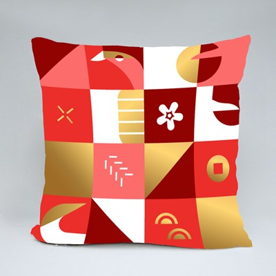 Golden Year of the Ox Throw Pillows