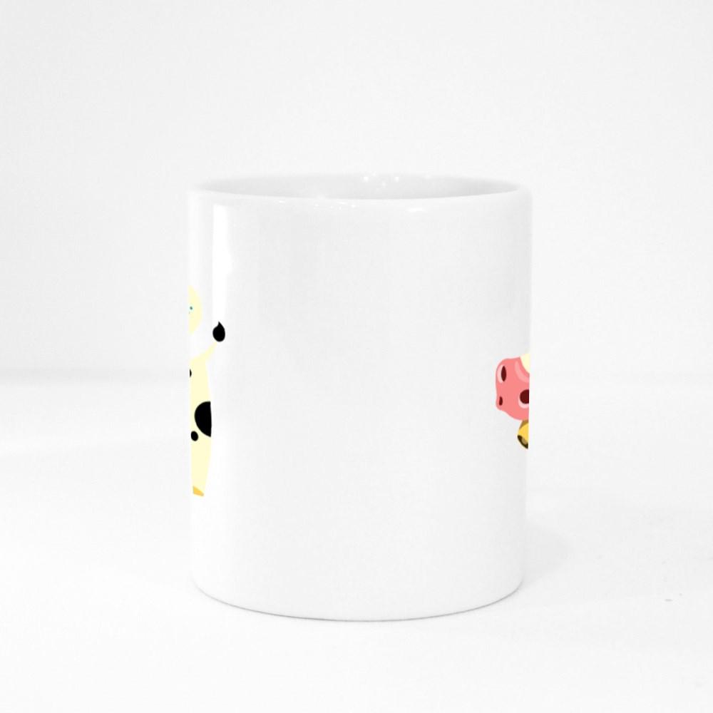 The Cow Goes Moo Colour Mugs