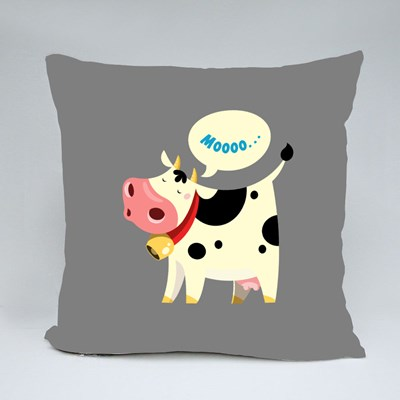The Cow Goes Moo Throw Pillows
