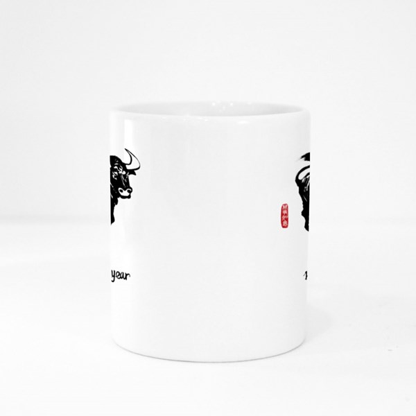 Bull Happy New Year 2021 Colour Mugs