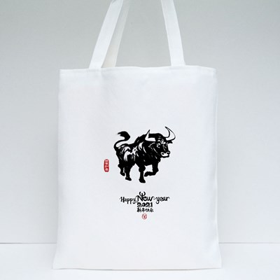 Bull Happy New Year 2021 Tote Bags