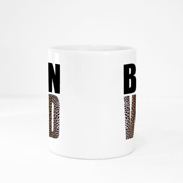 Born to Be Wild in Leopard Print Colour Mugs