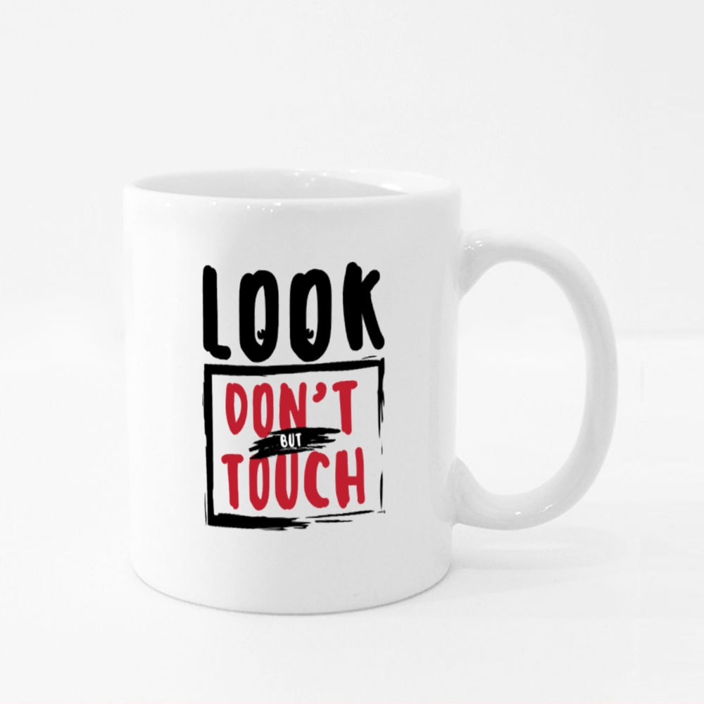 Look, but Don't Touch Colour Mugs