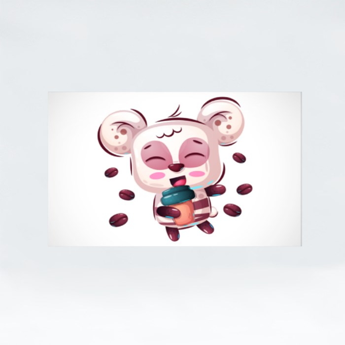 Cute Panda for Panda Lovers Stickers (Rectangle)