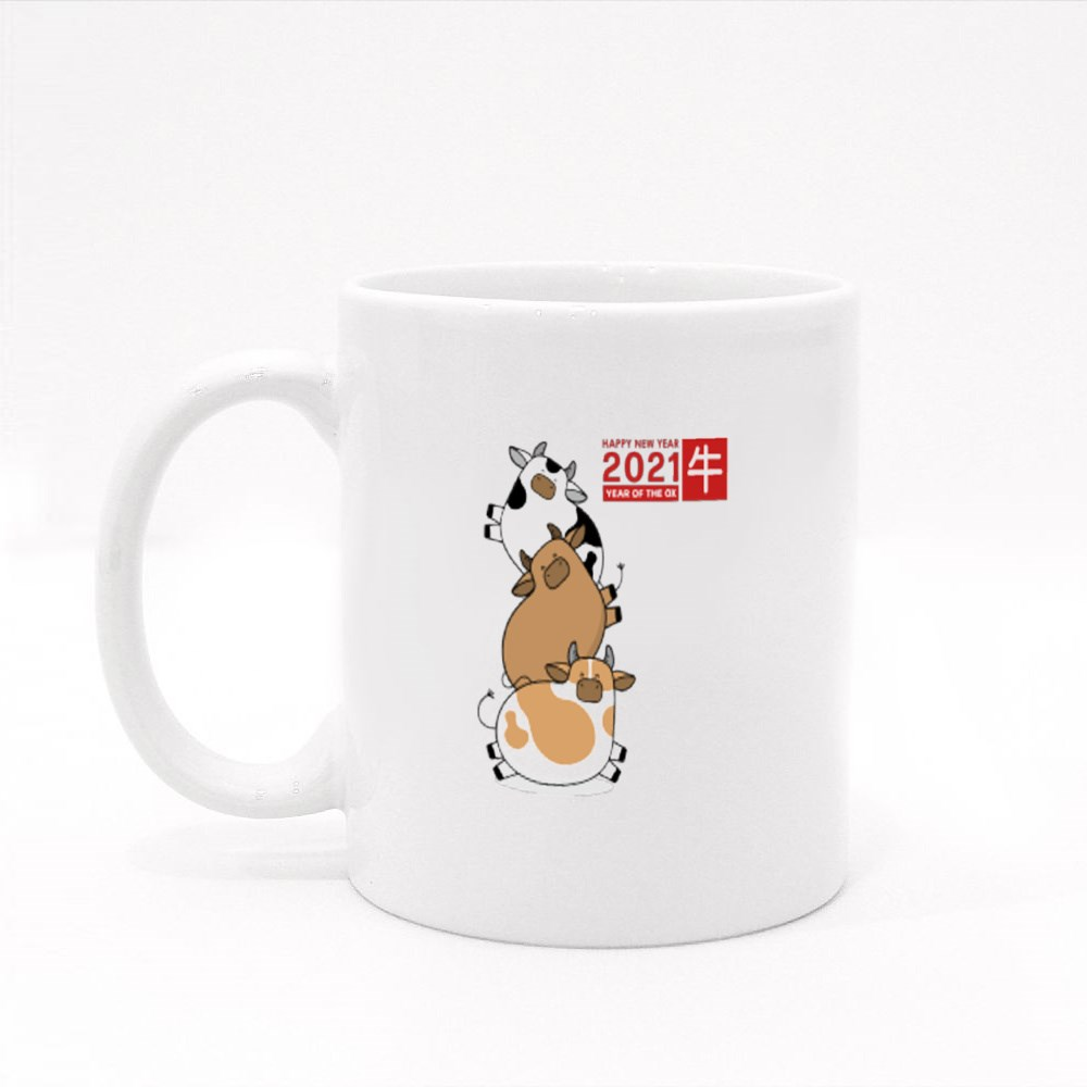 2021 Is the Year of the Ox Colour Mugs
