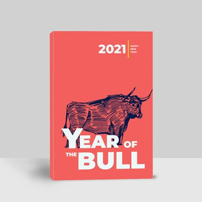 2021 the Year of the Bull Canvas (Portrait)