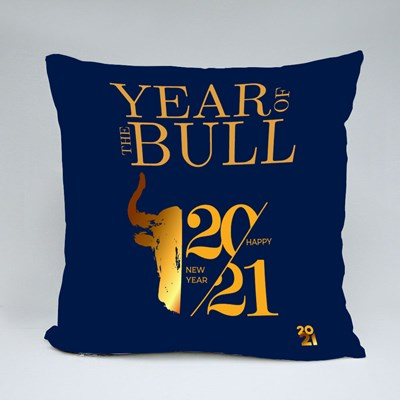 2021 the Year of the Bull Throw Pillows