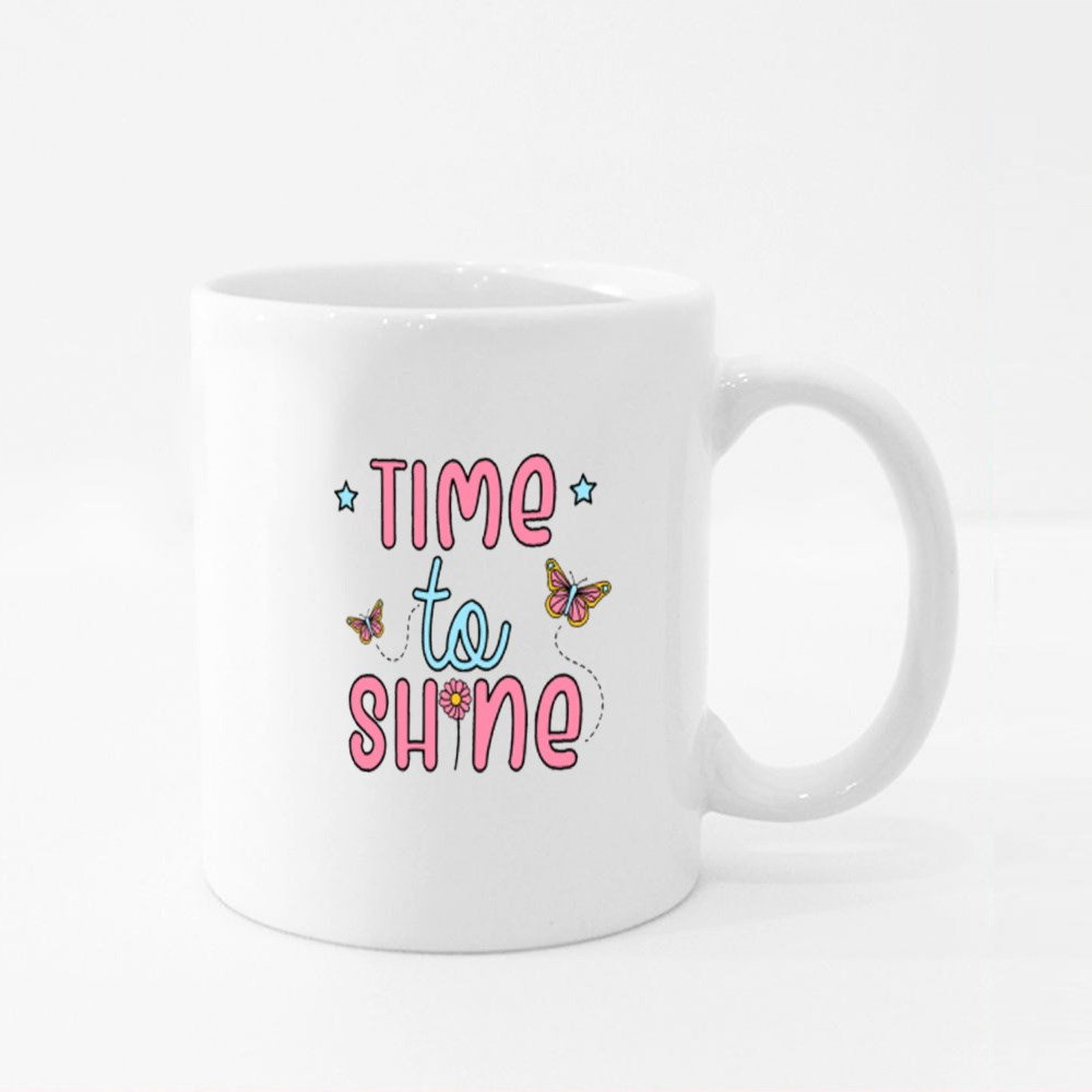 Butterfly Time to Shine Colour Mugs