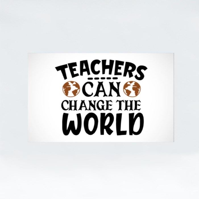 Teacher Sayings/Quotes | Gift for Teachers Stickers (Rectangle)