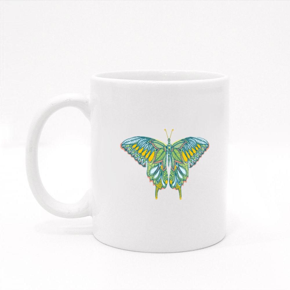 Zentagle Butterfly Colour Mugs