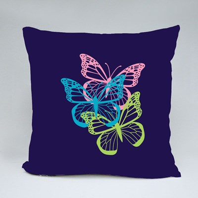 Beautiful Tri-Colour Butterfly Throw Pillows