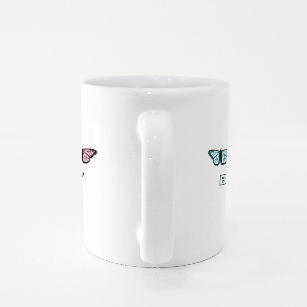 Butterfly Fly Free Colour Mugs