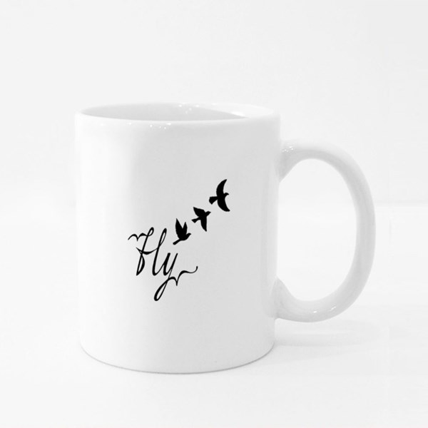 Birds Flying Free Colour Mugs