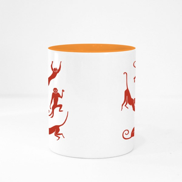 Standing Fun Monkey Colour Mugs