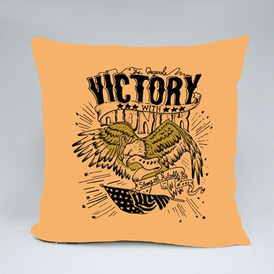 Victory With Honor Throw Pillows