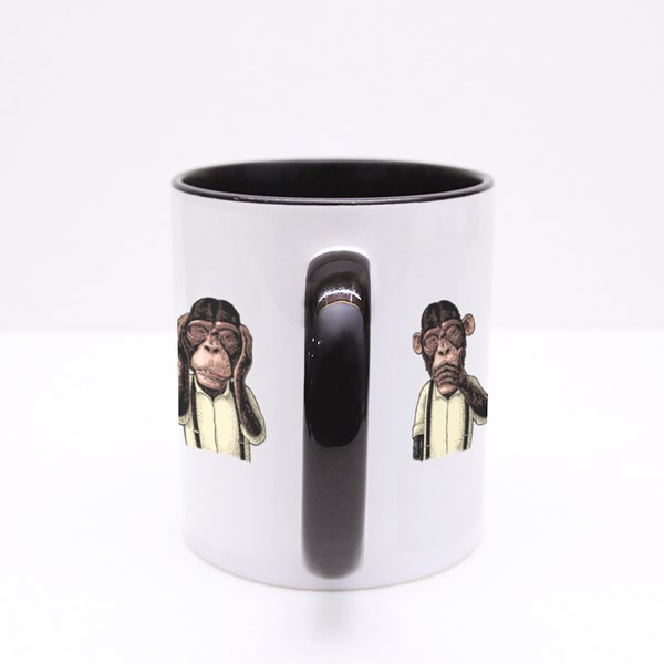Three Wise Monkeys Colour Mugs