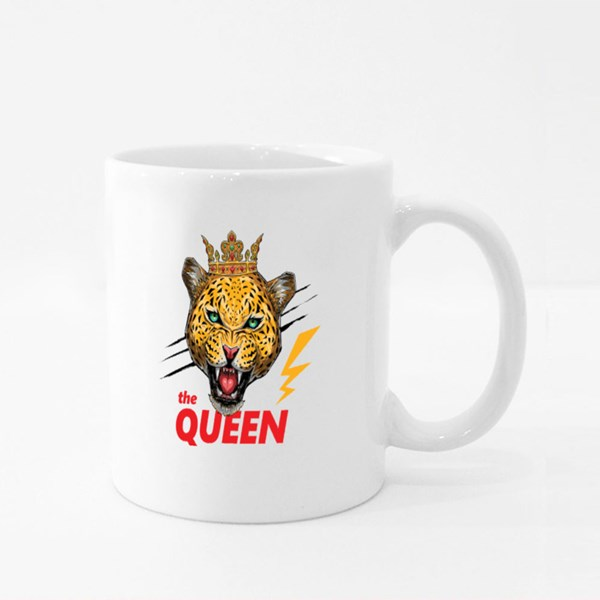 The Queen Leopard Colour Mugs